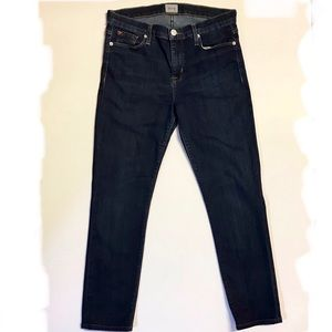 Hudson Shine Midrise Skinny Jeans Stretch Denim
